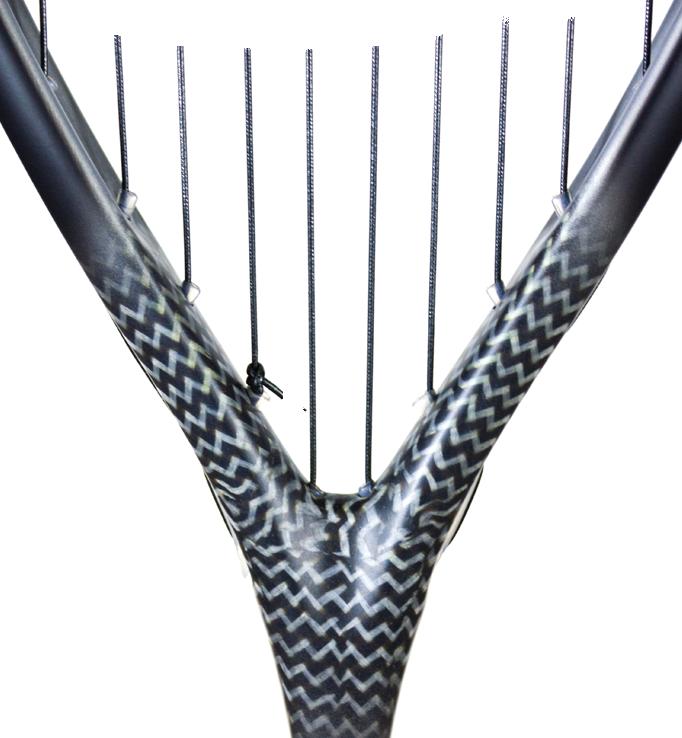 Bare PXT racquet closeup