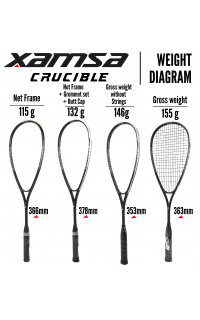 Xamsa Crucible Racquet Weighting Methods Variations