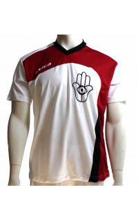 Xamsa T-Shirt White/Red/Black