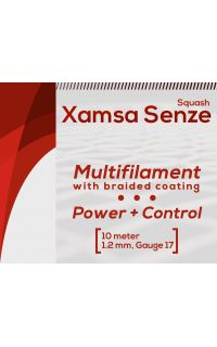 Xamsa Senze Squash Strings, Black, 10m set