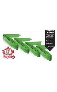 4-Pack Xamsa X-GLU Green Replacement Grips
