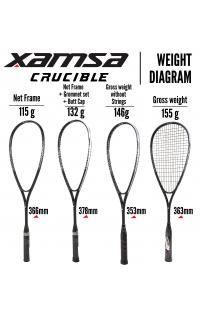 Xamsa Crucible Racquet Weighting Methods Variations